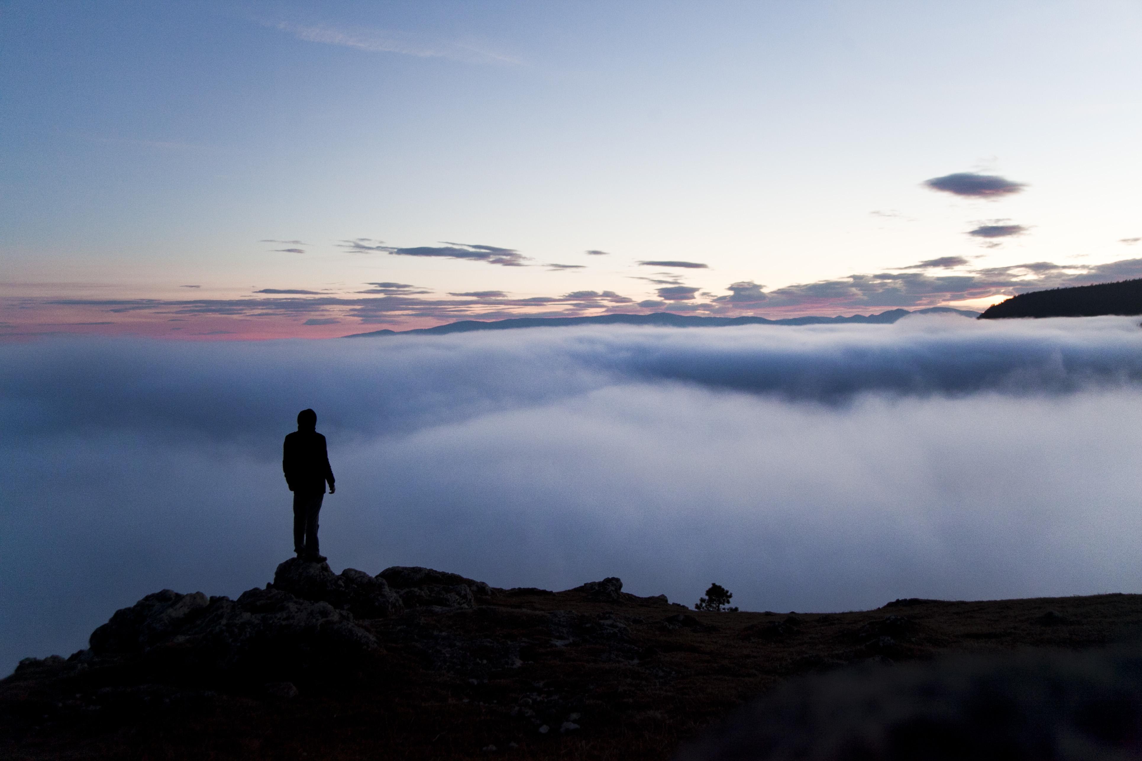 Über den Wolken auf dem Berg abb69