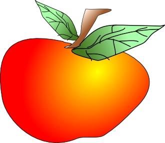Apfel ganz